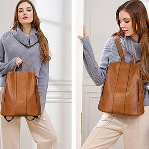 My Bag Lady Online Bags - Adult Leather Luxury Backpack - 4 Way Carry